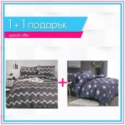 3D спално бельо 1+1 - Морска звезда + Грегъри
