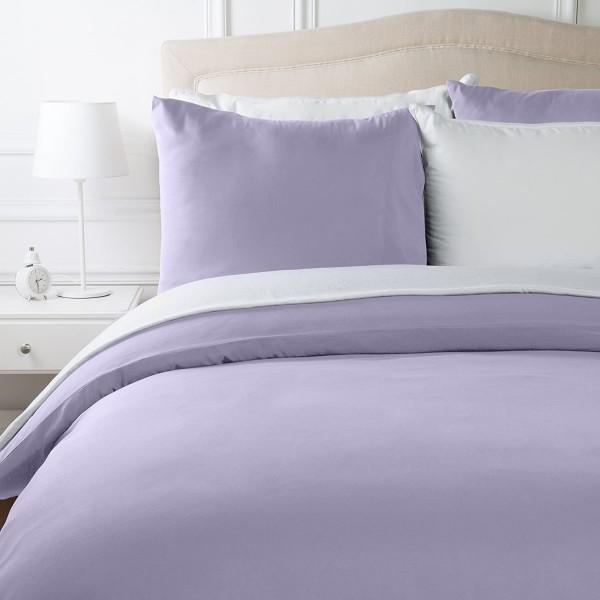 Спално бельо в два цвята Лилаво и Бяло