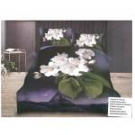 3D спално бельо + олекотена завивка - Орхидея