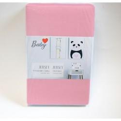 Чаршаф с ластик 60/120 розово за бебе