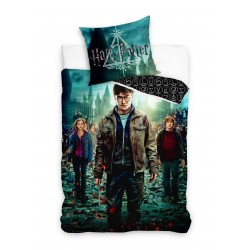 3D Спално бельо Хари Потър памучен сатен