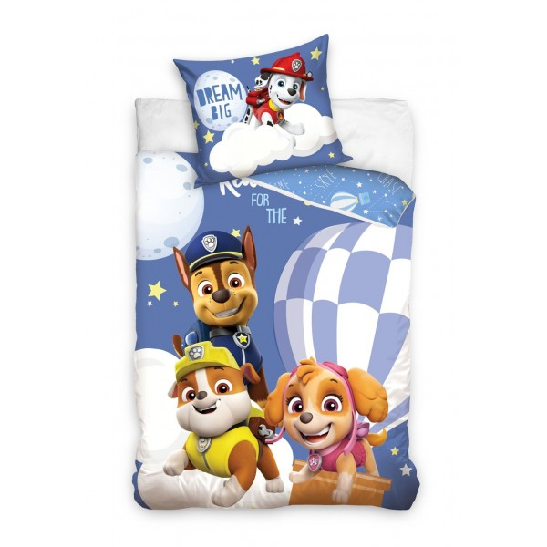 3D Спално бельо Paw Patrol Dream памучен сатен