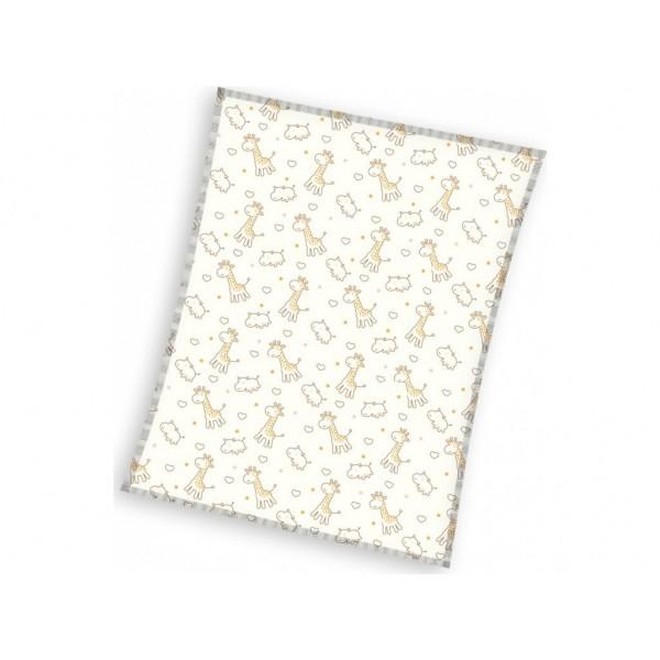 Плътно бебешко одеяло жирафчета