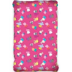 Долен чаршаф с ластик Peppa Pig ранфорс