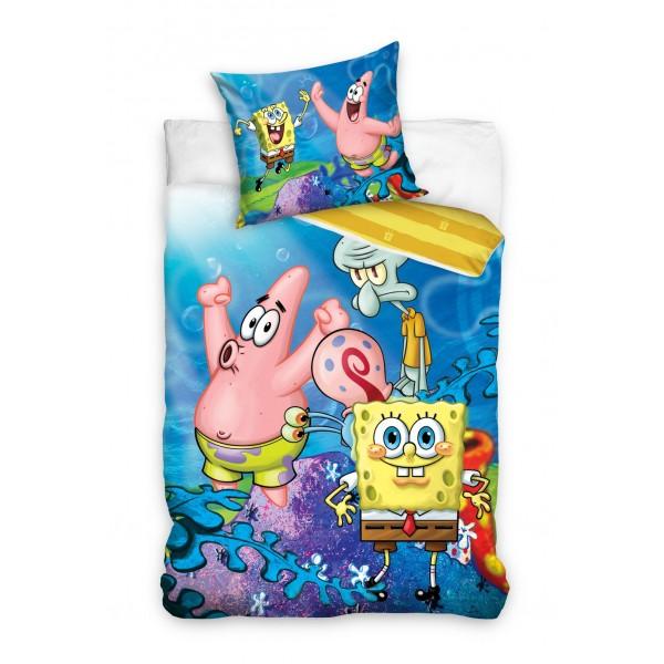 3D Спално бельо от ранфорс Sponge bob