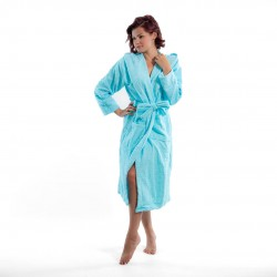 Хавлиен халат с качулка Style аква