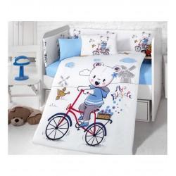 Луксозно бебешко спално бельо Мече с колело