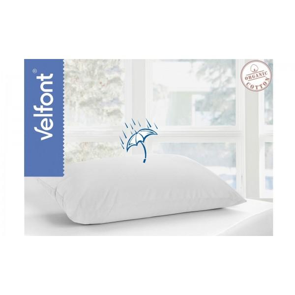 Непромокаема калъфка за възглавница от органичен памук Бяло