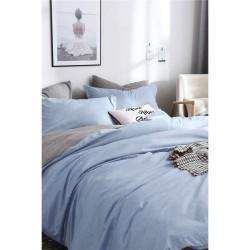 Двулицево спално бельо Синьо и Сиво