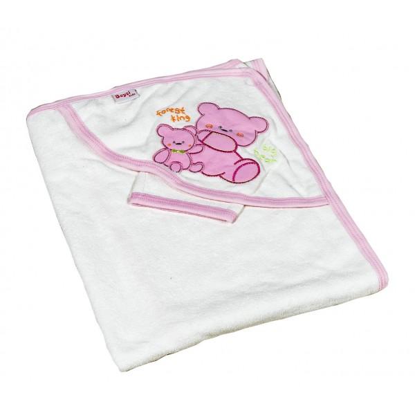 Бебешка хавлийка Рори розово