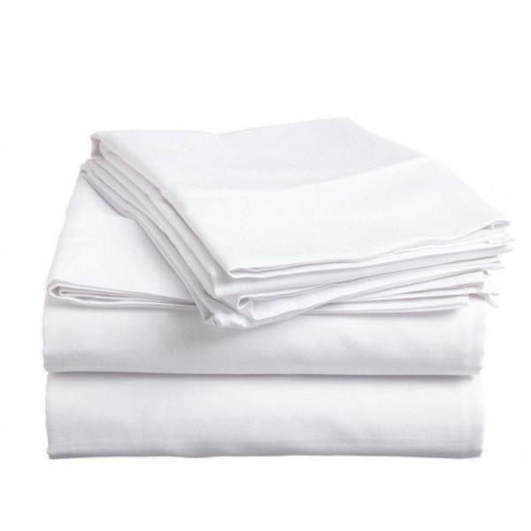 Спално бельо 100% памучно хасе бяло