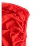 Памучен чаршаф с ластик Червено
