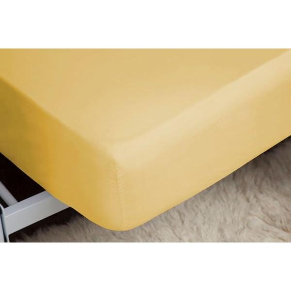Чаршаф с ластик 100% памучно трико жълто