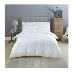 Бяло спално бельо микрофибър