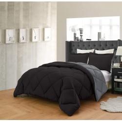Олекотено спално бельо Сиво и Черно