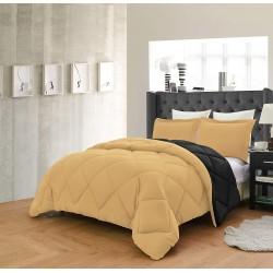 Олекотено спално бельо Златно и Черно