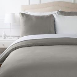 Спално бельо в два цвята Сиво и Бяло