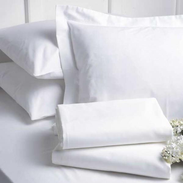 Бял долен чаршаф от Ранфорс