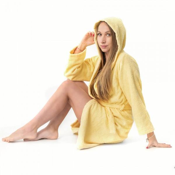 Хавлиен халат Юношески в жълто