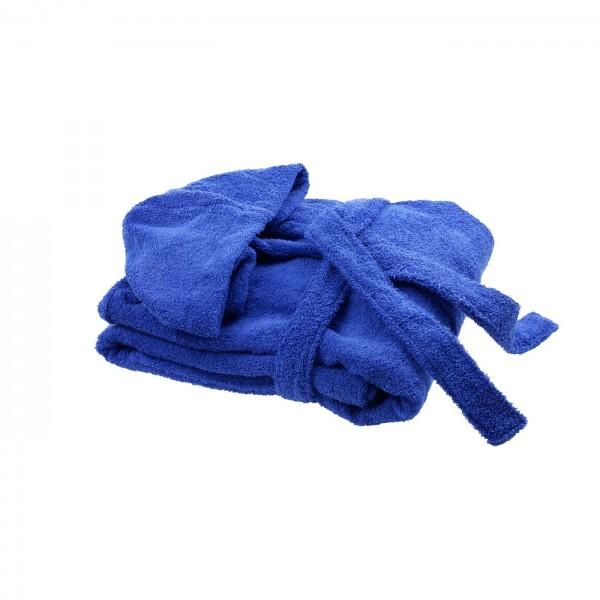 Халат с качулка унисекс Тъмно синьо