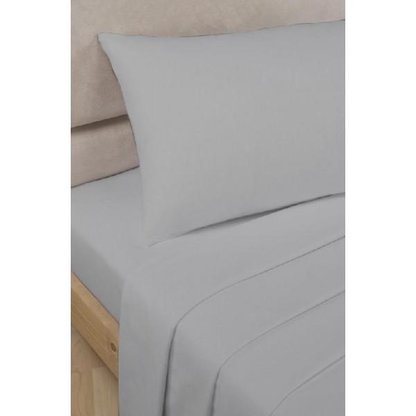 Спален комплект с чаршаф с ластик Сиво