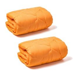 2бр Олекотени завивки в оранжево микрофибър