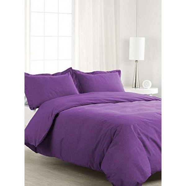 Лилаво спално бельо ранфорс