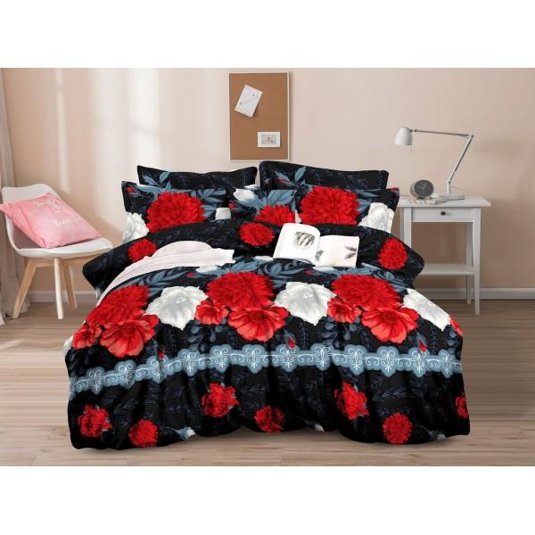 Спално бельо с олекотена завивка Рози 3D