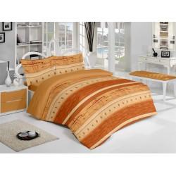 Спално бельо памук Релакс Оранжево