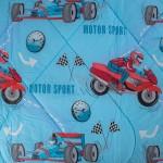 Спално бельо ранфорс Motor Sport