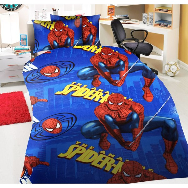 Детско спално бельо от ранфорс Amazing Spiderman