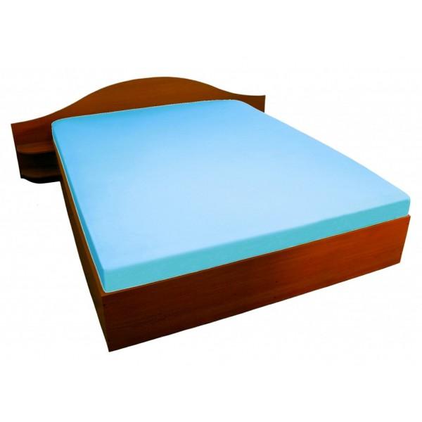 Чаршаф с ластик от 100% памучно трико Синьо