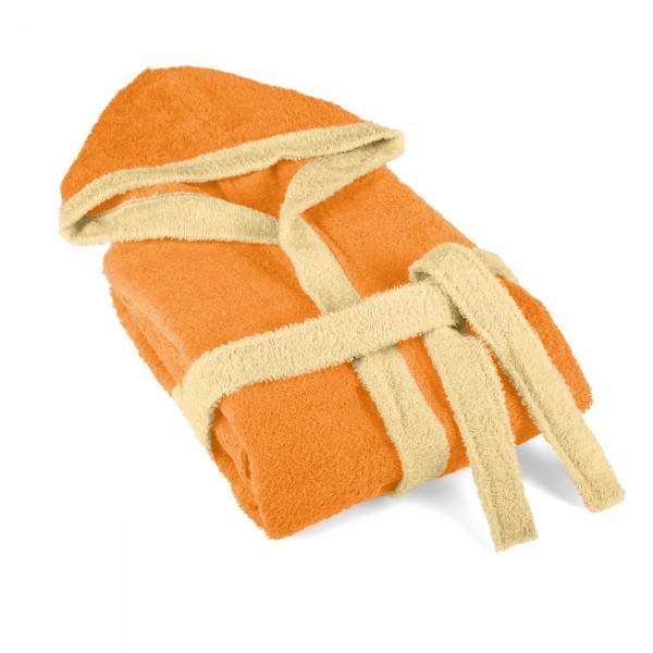 Детски халат за баня 9-11 години Оранжево