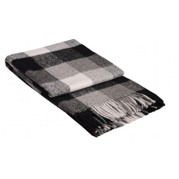 Вълнено одеяло на карета сиво