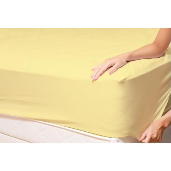 Долен чаршаф с ластик от ранфорс Yellow