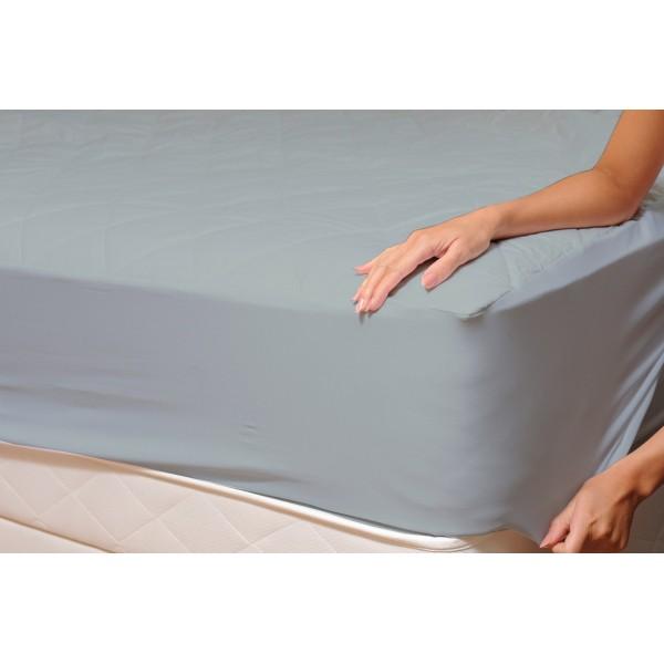 Долен чаршаф с ластик от ранфорс Grey