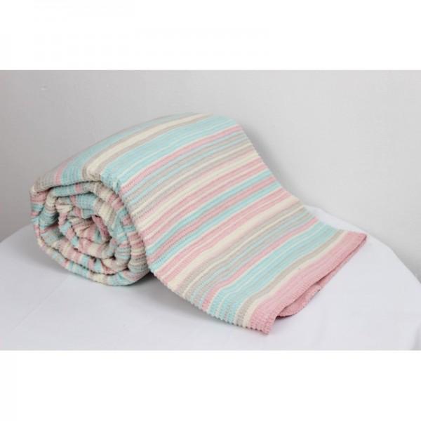 Памучно одеяло DARCEY цикламено
