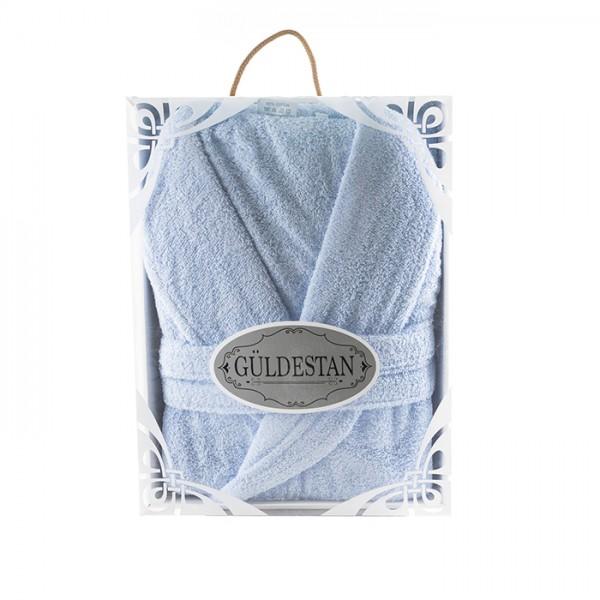 Луксозен хавлиен халат в кутия Бети светло синьо