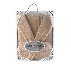 Луксозен хавлиен халат в кутия Бети капучино