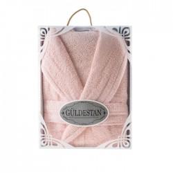 Луксозен хавлиен халат в кутия Бети розово