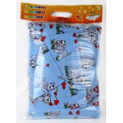 100% Памук Бебешки спален комплект Бау Бау Син