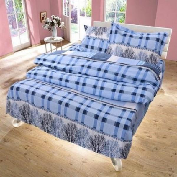 Спално бельо 100% Памук TREE синьо