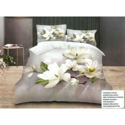 3D Спално бельо Бяла Орхидея