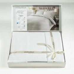 Бамбук сатен спално бельо в бяло