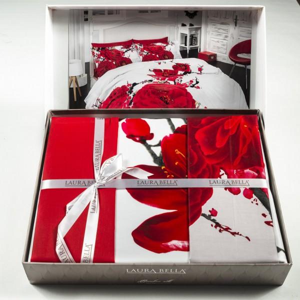 3D Спално бельо RED MAGIC бамбук сатен