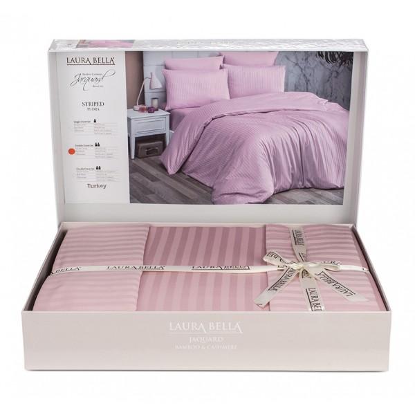 Луксозно спално бельо бамбук сатен Пепел от рози