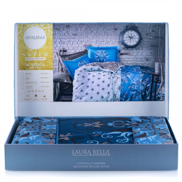 Луксозно спално бельо от сатен и кашмир Crystaline