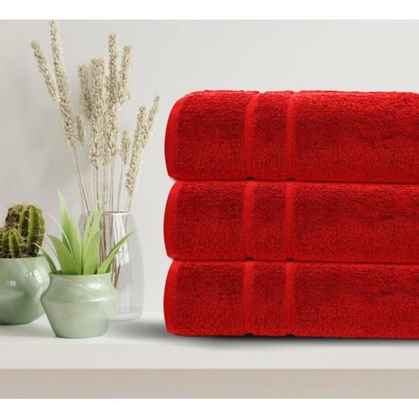 3бр. Големи хавлиени кърпи в червено
