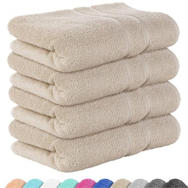 4бр. Средни хавлиени кърпи в бежово