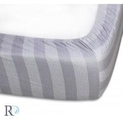 Луксозен чаршаф с ластик от памучен сатен Ave Grey